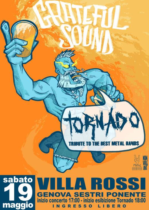 Locandina Tornado al Grateful Sound Festival 2018, sabato 19 Maggio 2018