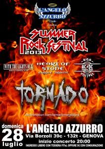 2013.07.28 - Locandina Summer Rock Festival 2013 - L'Angelo Azzurro Club